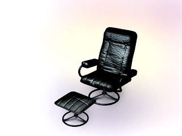 Black leather chairs leisure