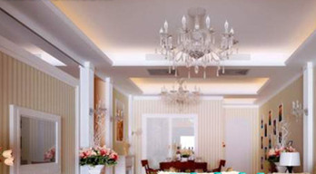 Simple European crystal chandeliers living room