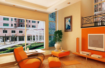 Candy-colored living room model download