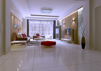 Simple style of modern living room