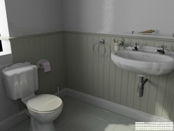 Simple bathroom model
