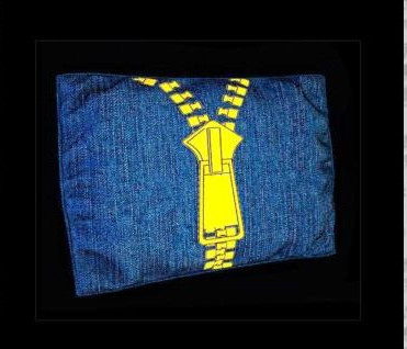 Rectangular fashion denim pillow