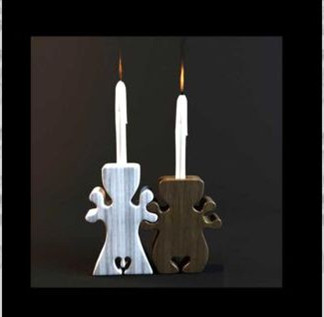 3d model of humanoid candle