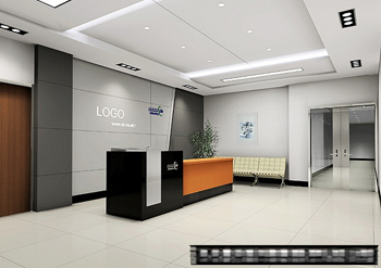 Office reception space model