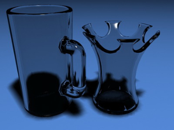 3d Wine model, creative glass
