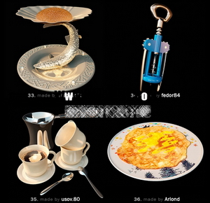 Pretty fine tableware and dining accessories model of small 9-8