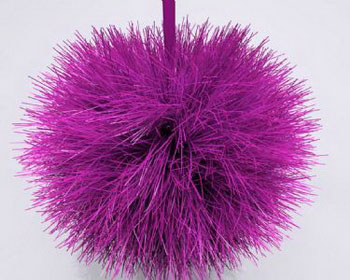 Plush ball of clothing accessory