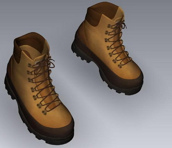 Brown hiking shoes model
