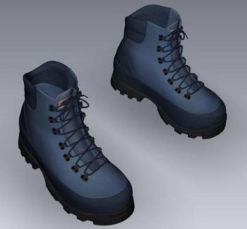 Blue hiking shoes model