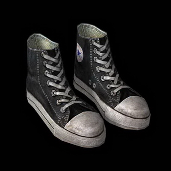 Shoes of the 3D model (with map)
