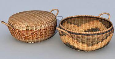 Hand-woven box 3D models