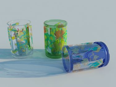 Lovely cartoon block glass