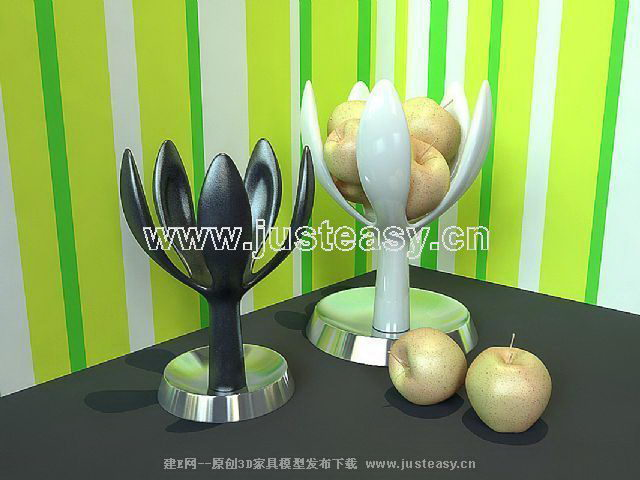 Fashion displays - fruit bowl 3D model (including materials)