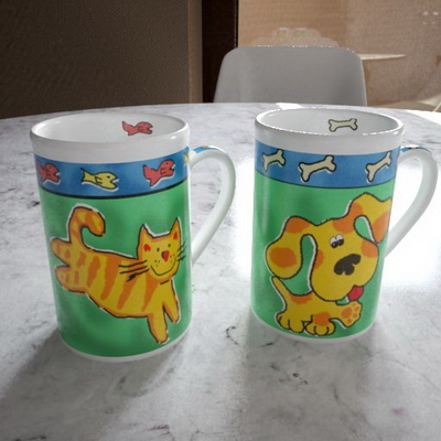 Small animal pattern cup 3D model (with map)