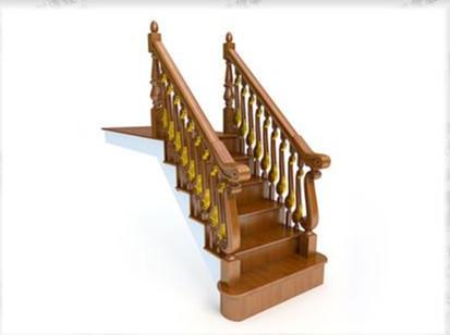 European-style staircase