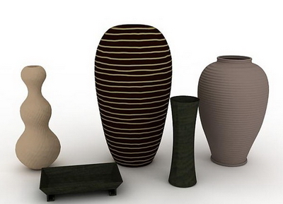 Several models of different shapes of vases