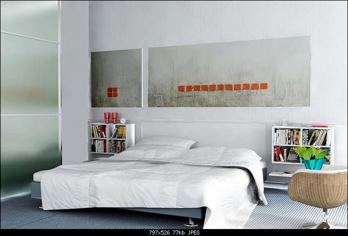 White elegant bedroom