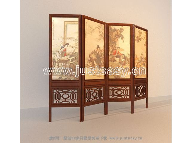 Wooden partition wall relief indoor hall