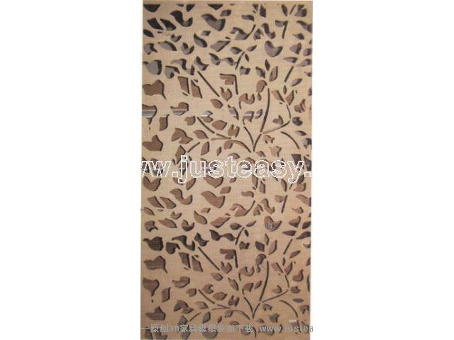 Classical carved wooden screen fixed