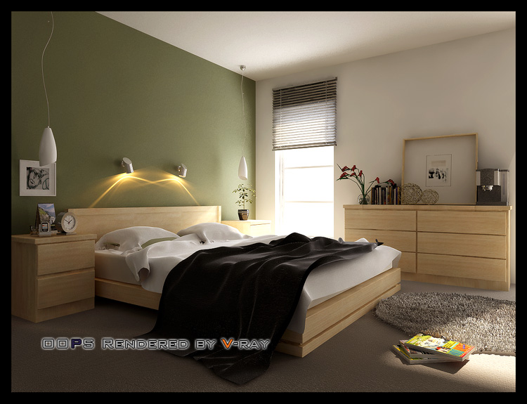 Simple bedroom model