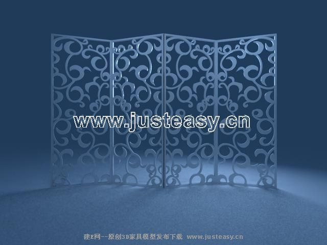 Every section of carved wood screen