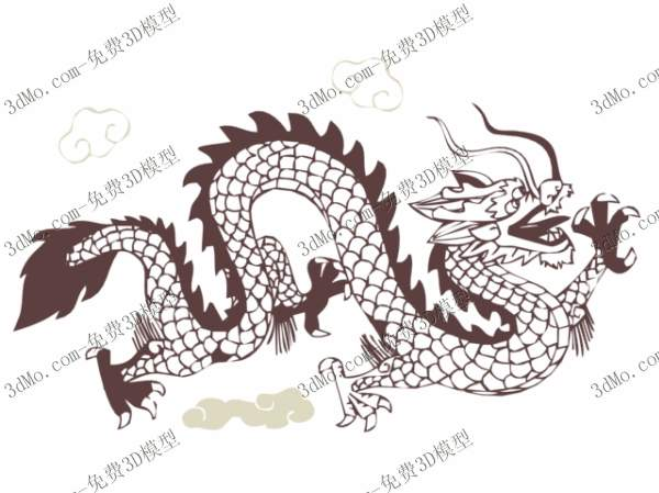 Chinese dragon pattern wallpaper