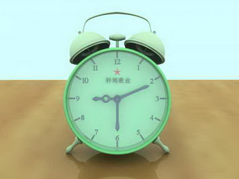 Green small alarm clock
