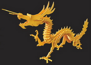 Wood model of the dragon to do