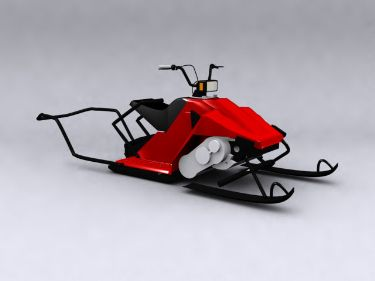 Red electric sled model