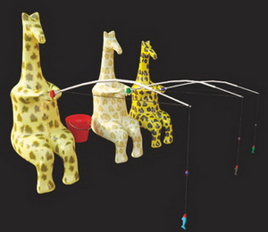3D Model of giraffe fishing
