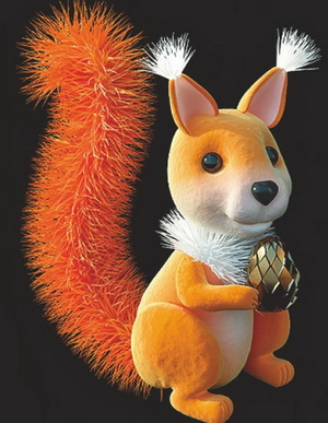 Model of a small squirrel plush