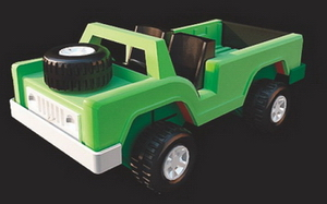 3D Model of plastic toy Jeep