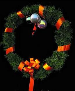 Small Christmas tree garland