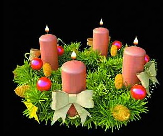 Pink candle decorations Model