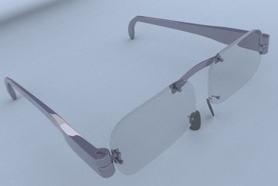 Simple model of the shape of glasses