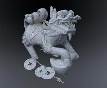 3d model of animal that Kirin