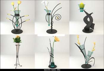 Decorative vase 3D model (with map)