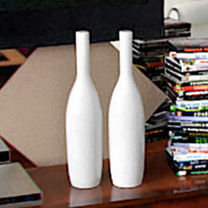 White decorative bottle