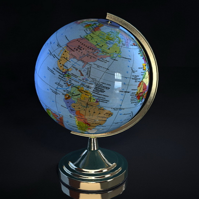 Globe Model (with map)