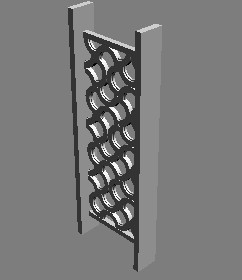 3D model of a simple shape grille