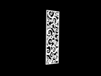 3D Model of Chinese carved hollow partition 2-5, paragraph