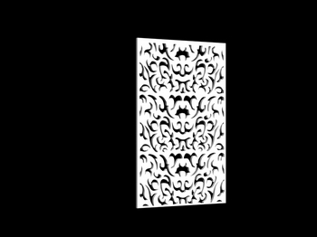3D Model of Chinese carved hollow partition 5-5, paragraph