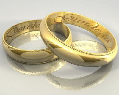 Accessory Model�� Couple Rings 3Ds Max Model