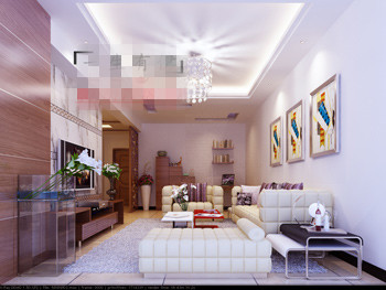 Bright and spacious  living room model