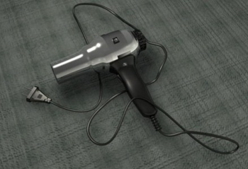 Hair Dryer Metal 3D Model