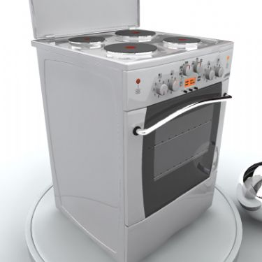 Electric oven 3D Model (including hdr map)