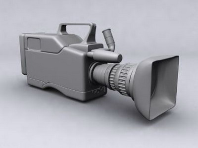 Professional Video Camera 3DsMax Model