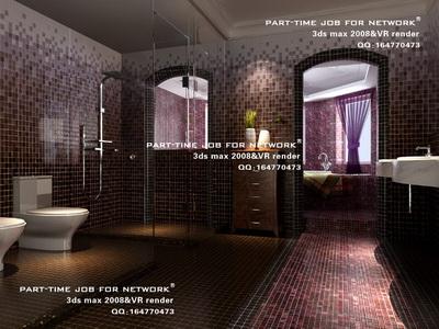 Bathroom with mosaic wall