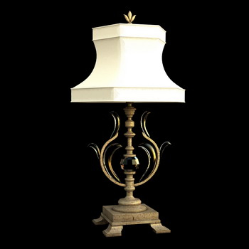 European table lamp 3D model