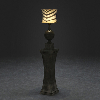 European classical table lamp 3D model